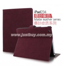 iPad 2, iPad 3, iPad 4 Matte Leather Case - Purple