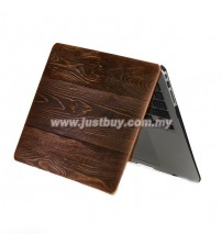 Macbook PRO Retina 13 Inch A1502/A1425 Art Graphic Rubberized Hard Case - Wood Grain Dark Brown