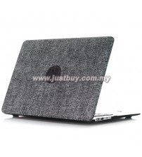 Macbook PRO Retina 13 Inch A1502/A1425 Jeans Rubberized Hard Case - Black