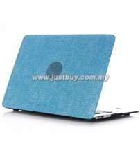 Macbook PRO Retina 13 Inch A1502/A1425 Jeans Rubberized Hard Case - Blue