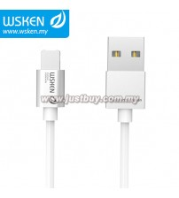 WSKEN Micro USB + Lightning 2 In 1 Reversible USB Cable - Silver
