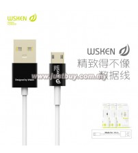 WSKEN Double Side Reverse Plug 2.4A Fast Charging Micro USB Cable - Black