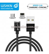 WSKEN Micro USB / Lightning / 2.4A Mini2 Magnetic X-Cable - Black