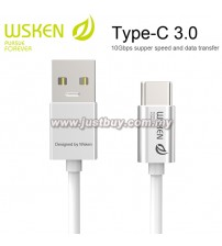WSKEN Type C 3.0 USB Cable - Silver