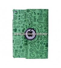 iPad Air 2 Cute Design Rotating Case - Green