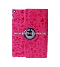 iPad Air 2 Cute Design Rotating Case - Pink
