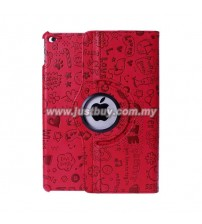 iPad Air 2 Cute Design Rotating Case - Red