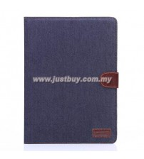 iPad Air 2 Jeans Wallet Case - Dark Blue
