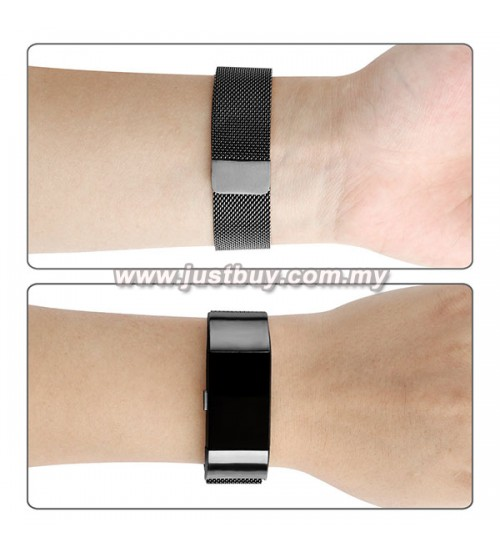 Buy fitbit charge stainless steel magnetic closure band