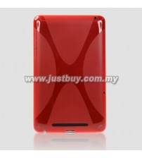 Google Nexus 7 2013 2nd Generation Textured TPU Silicone Case - Red