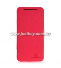HTC Butterfly X920d NILLKIN Fresh Series Leather Slim Case - Red