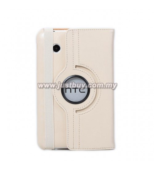 HTC Flyer 360 Degree Rotation Leather Case - Beige