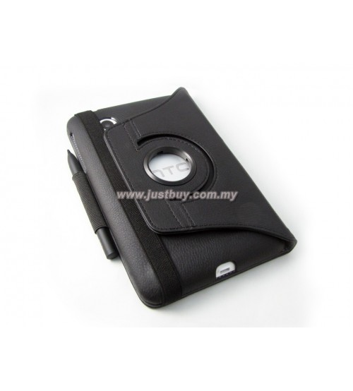 HTC Flyer 360 Degree Rotation Leather Case - Black
