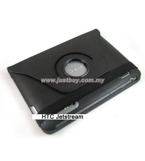 HTC Jetstream 360 Degree Rotation Leather Case - Black