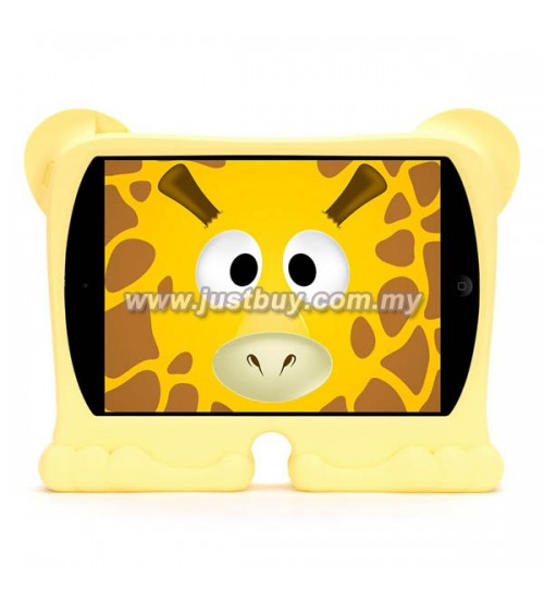 iPad 2, iPad 3, iPad 4 Griffin Kazoo Animal Stand Up Silicone Case - Giraffe