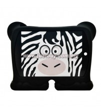 iPad 2, iPad 3, iPad 4 Griffin Kazoo Animal Stand Up Silicone Case - Zebra
