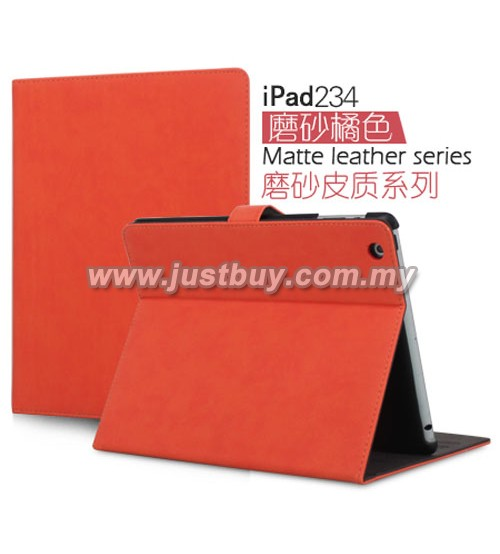iPad 2, iPad 3, iPad 4 Matte Leather Case - Red