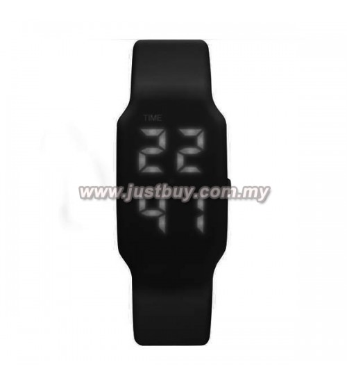 LED Watch With USB Tumbdrive - Black