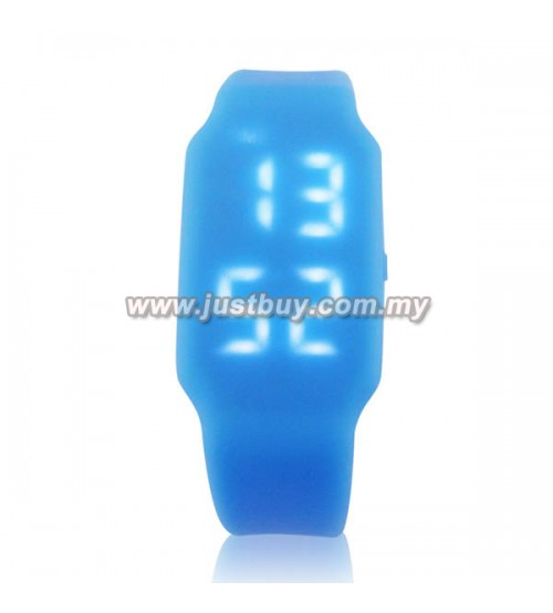 LED Watch With USB Tumbdrive - Blue