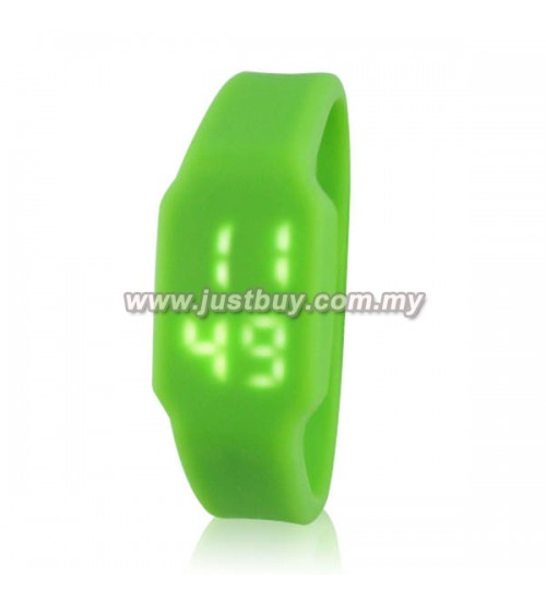LED Watch With USB Tumbdrive - Green
