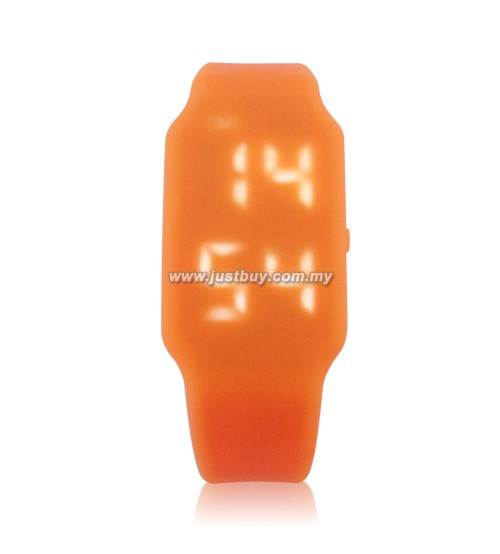 LED Watch With USB Tumbdrive - Orange