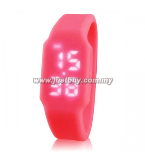 LED Watch With USB Tumbdrive - Pink