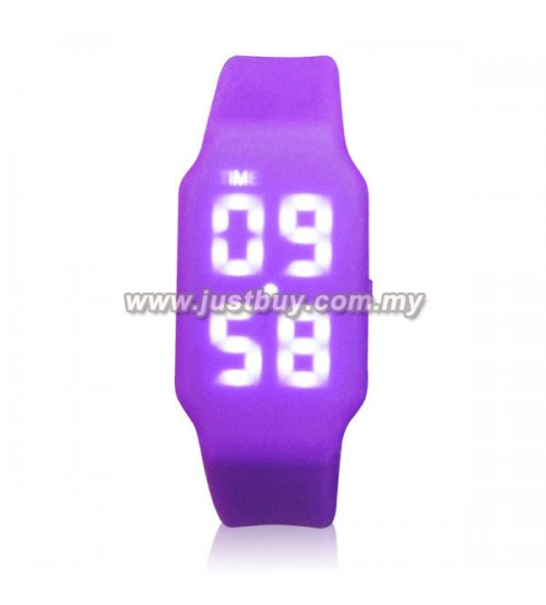 LED Watch With USB Tumbdrive - Purple