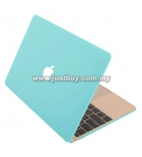 Macbook Retina 12 Inch Rubberized Hard Cover Case - Cool Blue