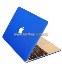 Macbook Retina 12 Inch Rubberized Hard Cover Case - Dark Blue