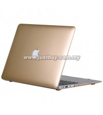 Macbook Retina 12 Inch Rubberized Hard Cover Case - Gold