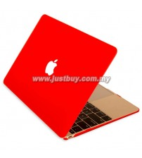 Macbook Retina 12 Inch Rubberized Hard Cover Case - Red