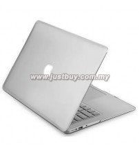 Macbook Retina 12 Inch Rubberized Hard Cover Case - Silver