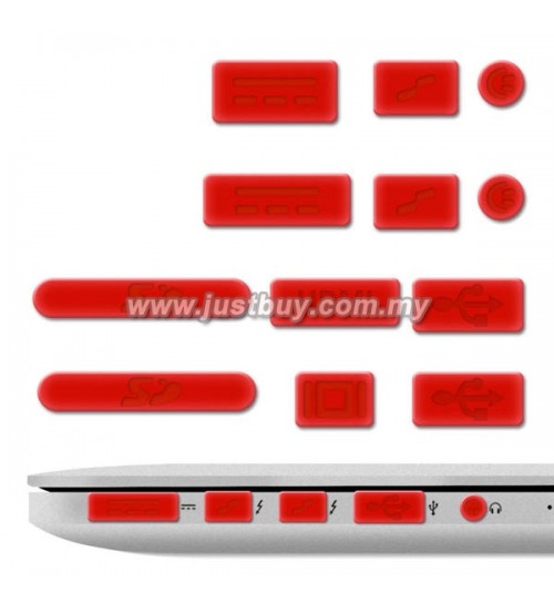 Macbook PRO Retina 13 Inch / 15 Inch Anti Dust Silicone Rubber Port Plugs