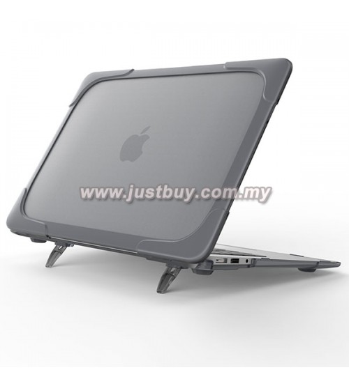 Macbook Pro Retina 13 Inch A1706/A1708 Crystal + TPU Shell Armor Shock Proof Case - Black