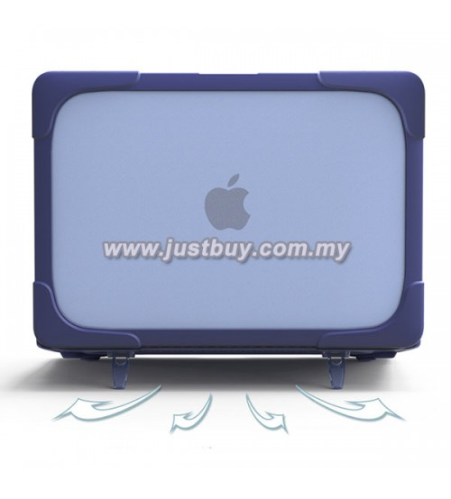Macbook Pro Retina 13 Inch A1502/A1425 Crystal + TPU Shell Armor Shock Proof Case - Blue