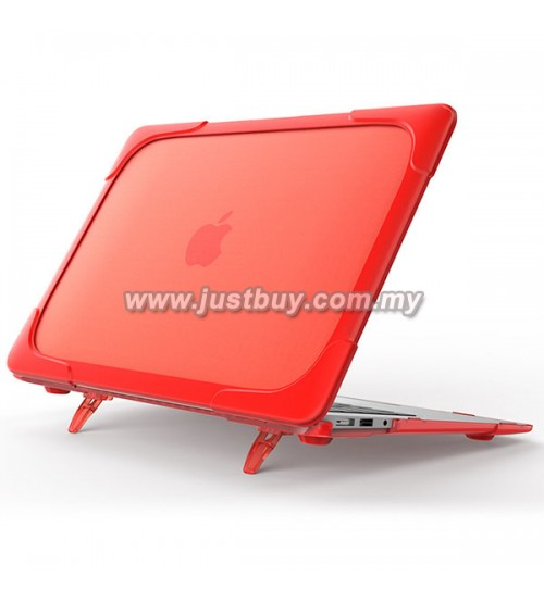Macbook Pro Retina 13 Inch A1706/A1708 Crystal + TPU Shell Armor Shock Proof Case - Red