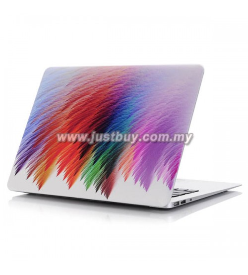 Macbook PRO Retina 13 Inch A1502/A1425 Art Graphic Rubberized Hard Case - Rainbow Painting