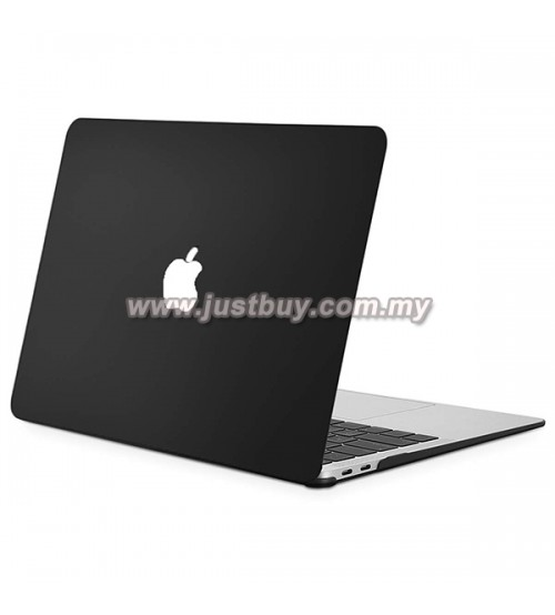Macbook Air Retina 13 Inch A1932 Matte Hard Cover Case - Black