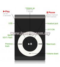 Mini Metal MP3 Player - Black