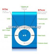Mini Metal MP3 Player - Blue