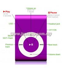 Mini Metal MP3 Player - Purple