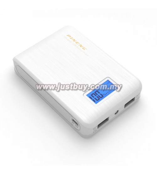 PINENG PN-928 10000mAh Power Bank - White
