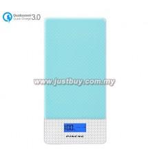 PINENG PN-993 10000mAh Quick Charge 3.0 Type C Polymer Power Bank - Blue