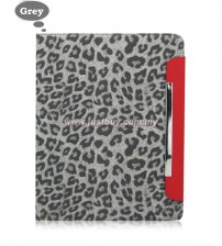 iPad 2, iPad 3, iPad 4 Magnetic Leopard Print Case - Grey