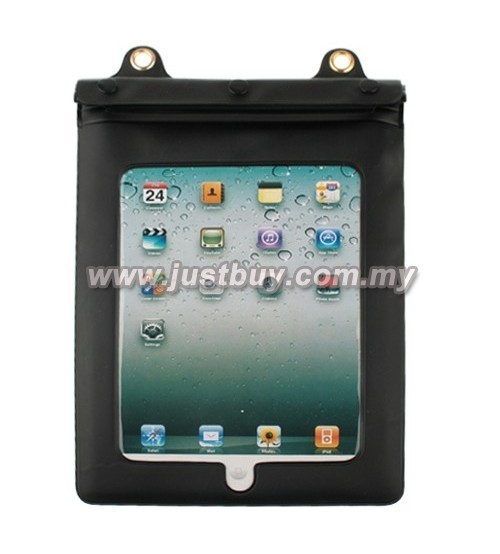 iPad 3/2 Tablet PVC Waterproof Cover Case - Black