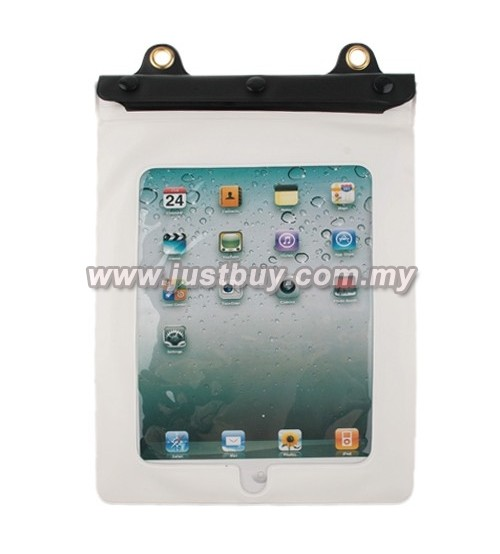 iPad 3/2 Tablet PVC Waterproof Cover Case - White