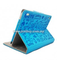 Acer Iconia A1-810 Cute Skin Leather Case - Blue