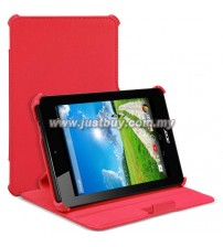 Acer Iconia One 7 B1-730 Premium Leather Case - Red