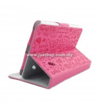 Acer Iconia B1-A71 Cute Pattern Skin Leather Case - Pink