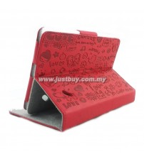 Acer Iconia B1-A71 Cute Pattern Skin Leather Case - Red